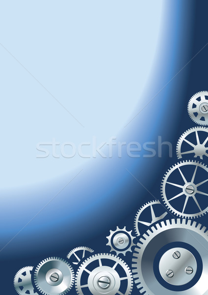 Mechanical background with gears Stock photo © ensiferrum