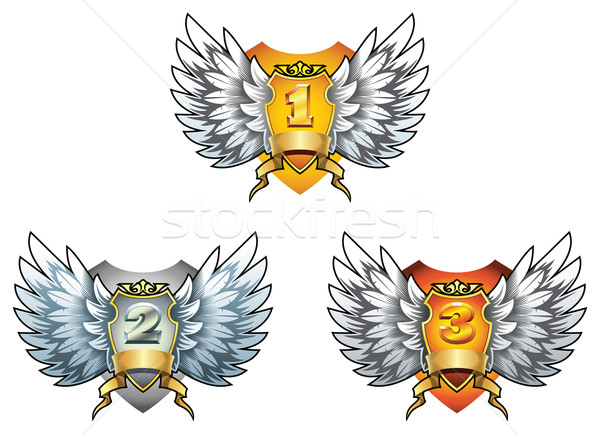 Tre simboli premio oro argento Foto d'archivio © ensiferrum