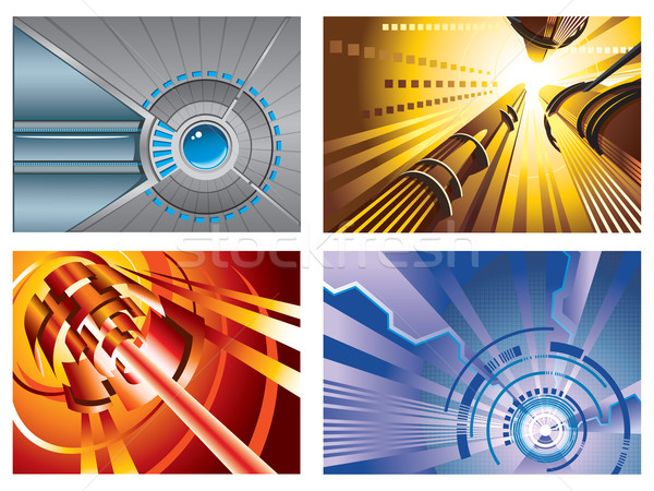 Technology backgrounds Stock photo © ensiferrum