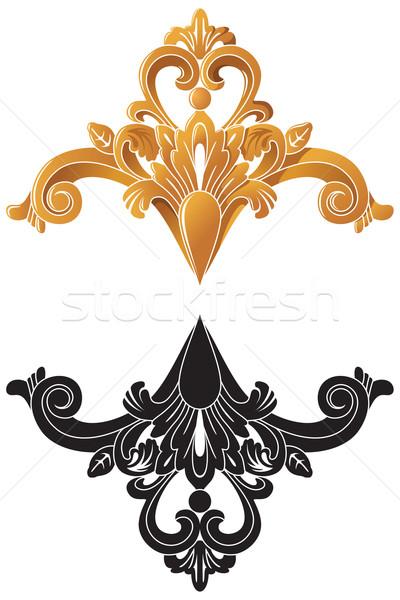 Golden decoration in vector Stock photo © ensiferrum