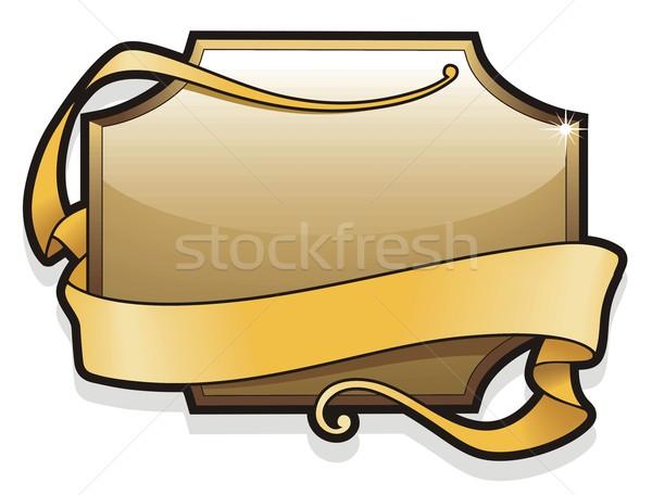 Signboard with ribbon Stock photo © ensiferrum
