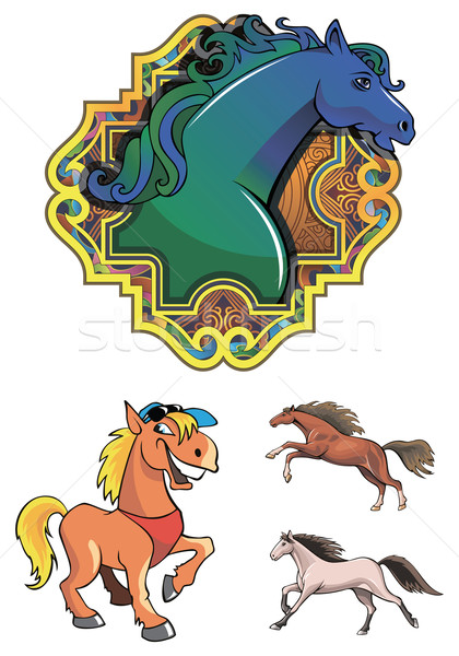 Horses Stock photo © ensiferrum