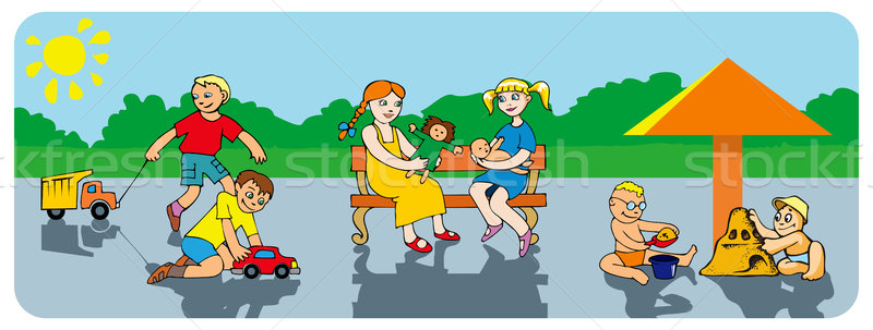 Stock photo: Children in the park