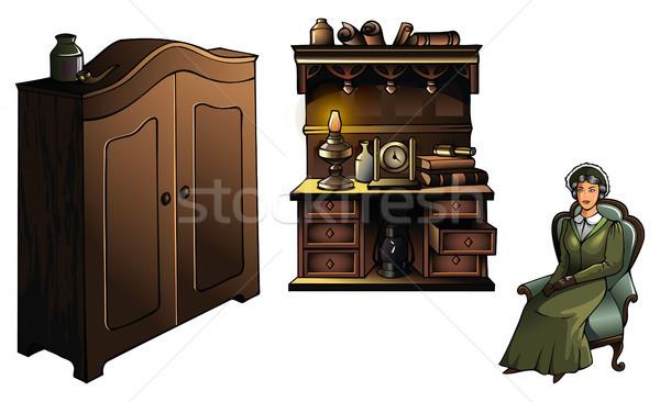 Woman with furniture  Stock photo © ensiferrum