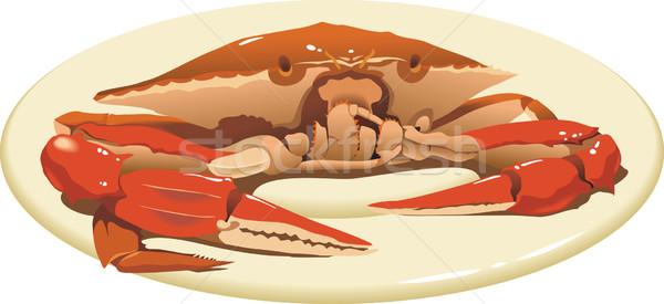 Granchio piatto alimentare view Foto d'archivio © ensiferrum