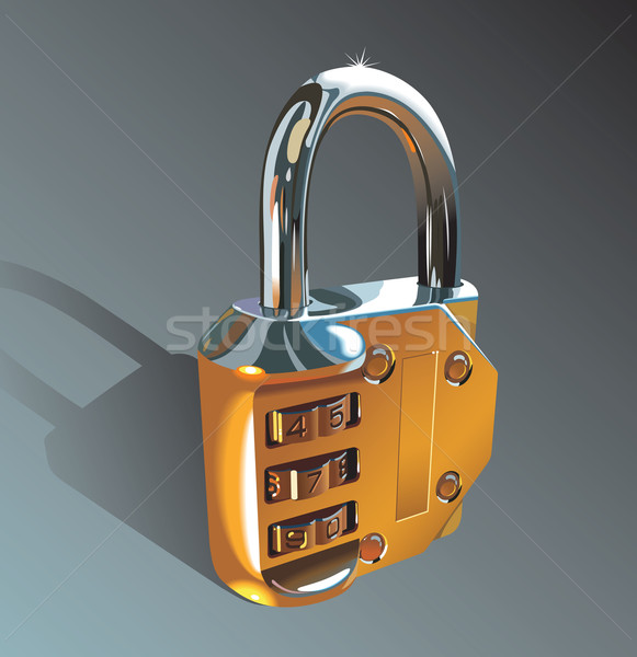 Photo-realistic padlock Stock photo © ensiferrum