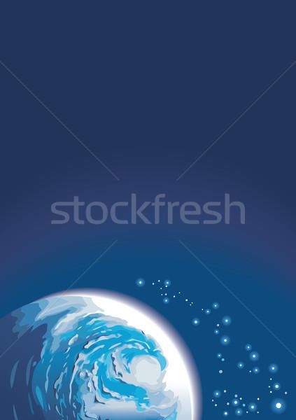 Spazio pianeta splendente stelle copia spazio cielo Foto d'archivio © ensiferrum