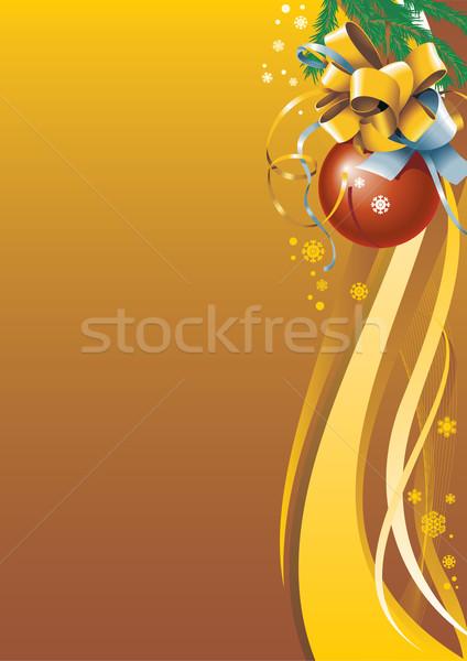 Natale vacanze carta colore albero Foto d'archivio © ensiferrum