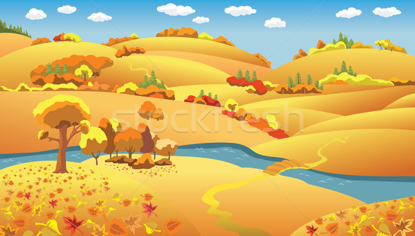 Autumn Landscape Stock photo © ensiferrum