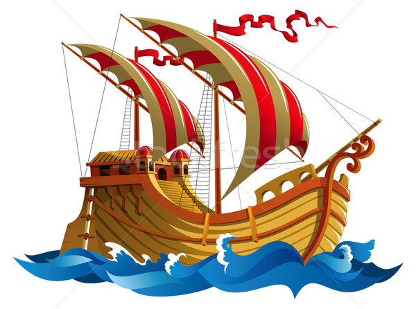 Stock photo: Sailing ship