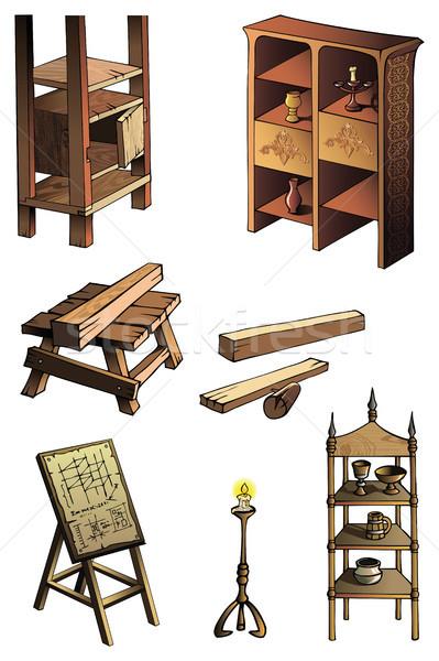 Evolution of furniture Stock photo © ensiferrum