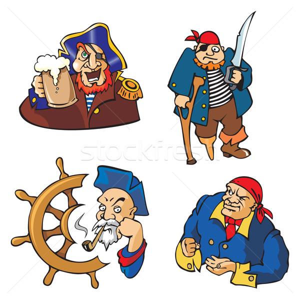 Vetor piratas conjunto desenho animado literatura Foto stock © ensiferrum