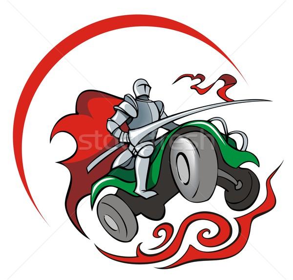 Quadrocycler knight Stock photo © ensiferrum