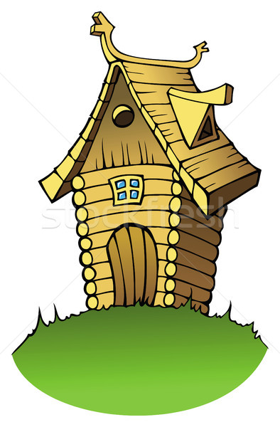 Cartoon wooden house Stock photo © ensiferrum