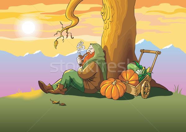 Last autumn leaf Stock photo © ensiferrum