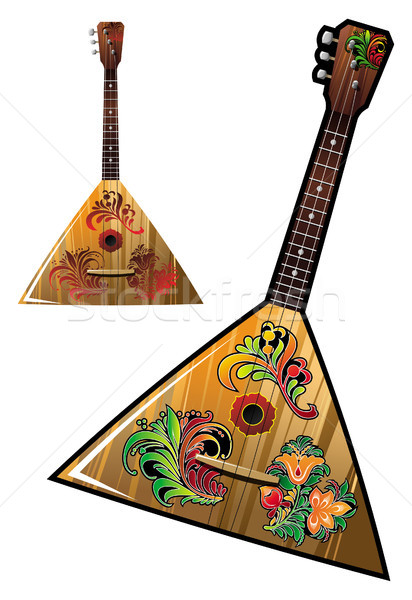 Musique instrument fleur ornements guitare Photo stock © ensiferrum