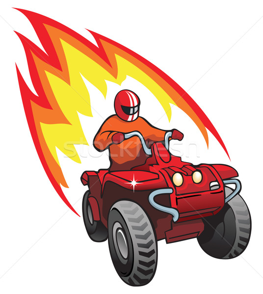 Rueda moto llama detrás velocidad motor Foto stock © ensiferrum