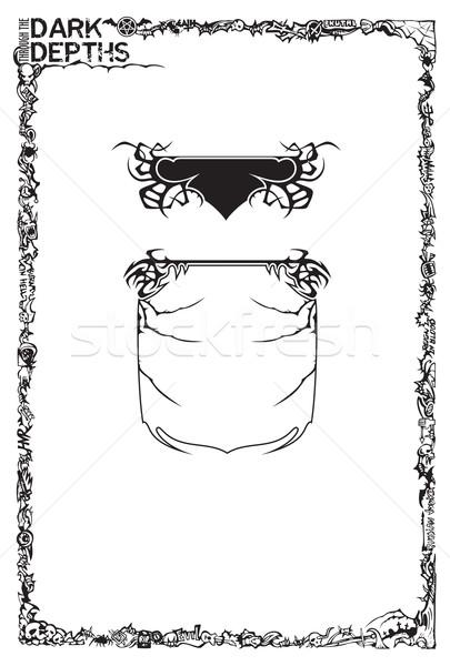Heavy metal quadro elementos estilo pequeno Foto stock © ensiferrum