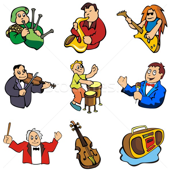 Music in vector Stock photo © ensiferrum