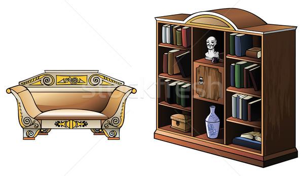 Set of furniture Stock photo © ensiferrum