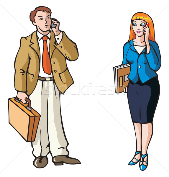 Business connection Stock photo © ensiferrum