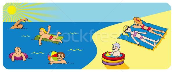 Rest on a seashore Stock photo © ensiferrum