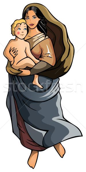 子 女性 赤ちゃん 母親 宗教 ストックフォト © ensiferrum