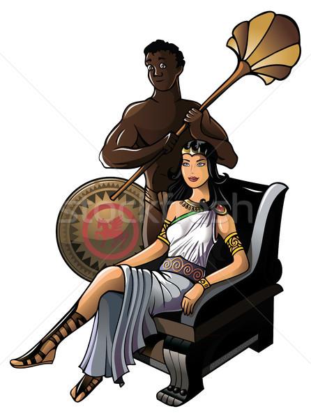 Starożytnych grecki królowej piękna sztuki korony Zdjęcia stock © ensiferrum