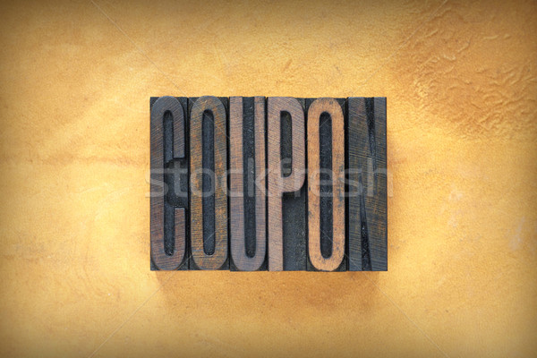 Coupon Letterpress Stock photo © enterlinedesign