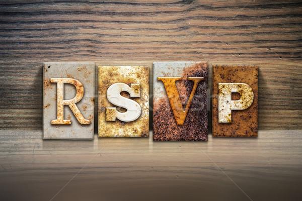 RSVP Concept Letterpress Theme Stock photo © enterlinedesign