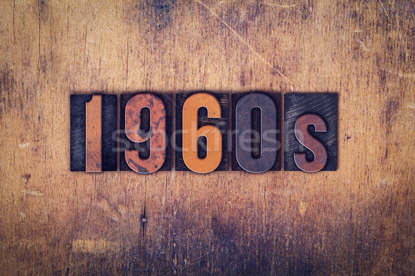 1960s Concept Wooden Letterpress Type Stock photo © enterlinedesign
