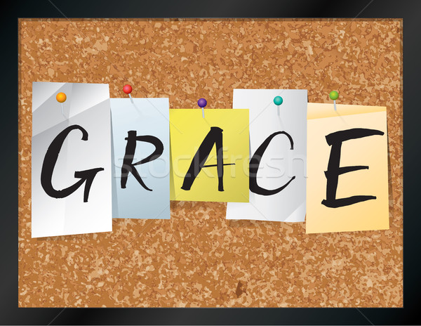 Grace Bulletin Board Theme Illustration Stock photo © enterlinedesign