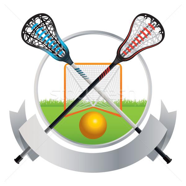 Lacrosse Emblem and Banner Design Stock photo © enterlinedesign