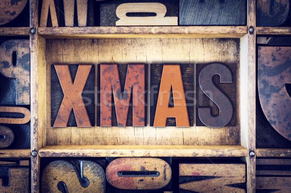 Stock photo: Xmas Concept Letterpress Type