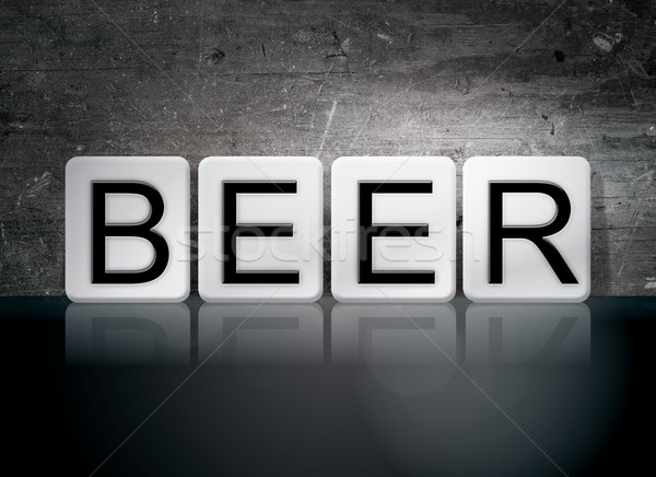Beer Tiled Letters Concept and Theme Stock photo © enterlinedesign
