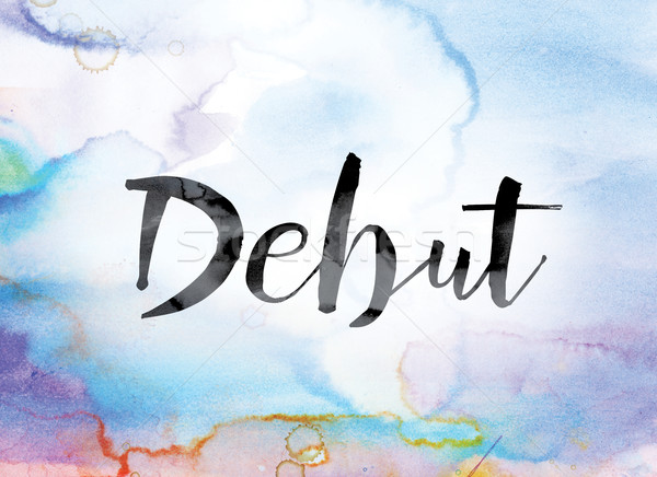 Debut Colorful Watercolor and Ink Word Art Stock photo © enterlinedesign