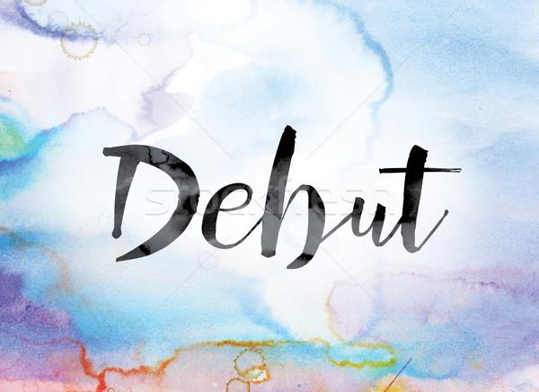 красочный акварель чернила слово искусства окрашенный Сток-фото © enterlinedesign