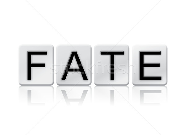 Fate Isolated Tiled Letters Concept and Theme Stock photo © enterlinedesign