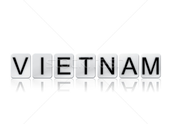 Vietnam Isolated Tiled Letters Concept and Theme Stock photo © enterlinedesign