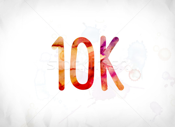 Stock photo: 10K Concept Painted Watercolor Word Art