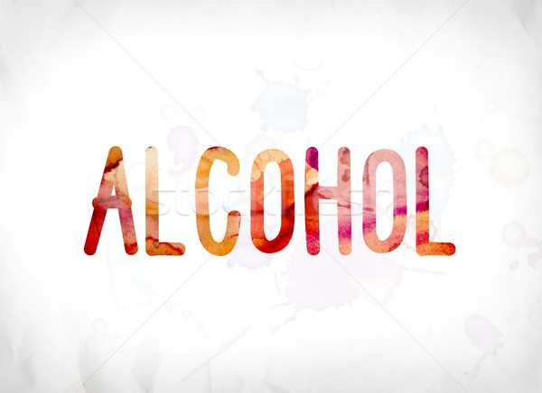Alcohol Concept Painted Watercolor Word Art Stock photo © enterlinedesign