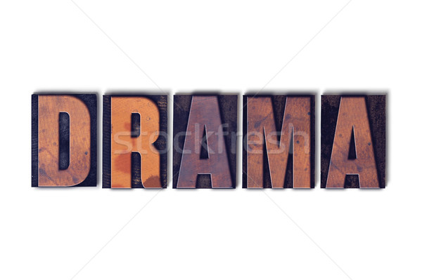 Drama Concept Isolated Letterpress Word Stock photo © enterlinedesign