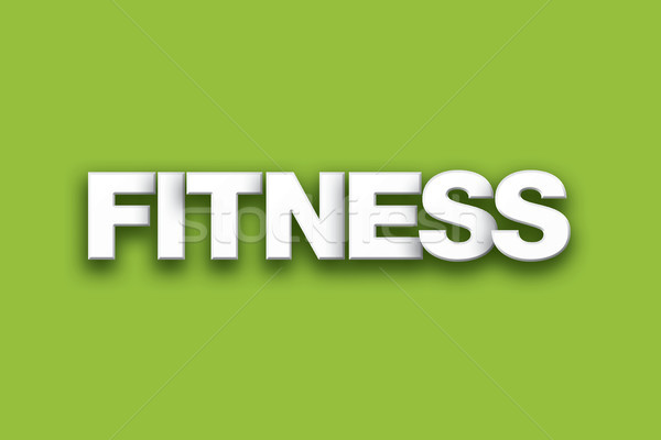 Fitness Theme Word Art on Colorful Background Stock photo © enterlinedesign
