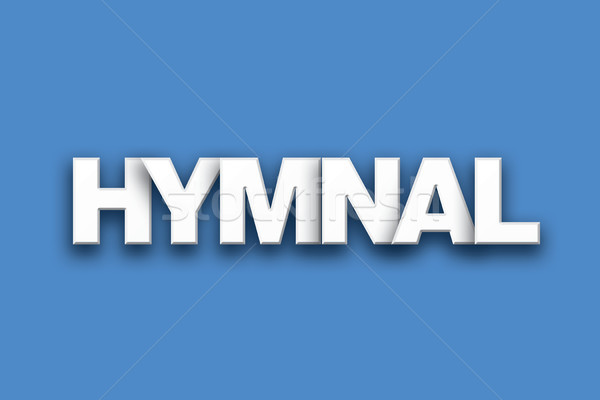 Hymnal Theme Word Art on Colorful Background Stock photo © enterlinedesign