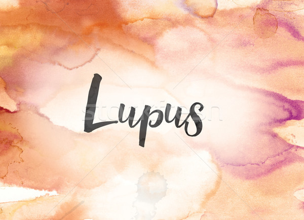 Lupus Concept Watercolor and Ink Painting Stock photo © enterlinedesign