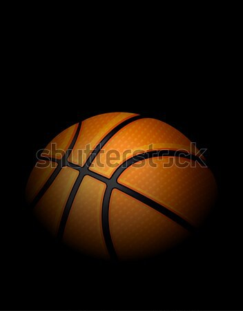 Realistic Basketball Illustration Sitting in Shadows Stock photo © enterlinedesign