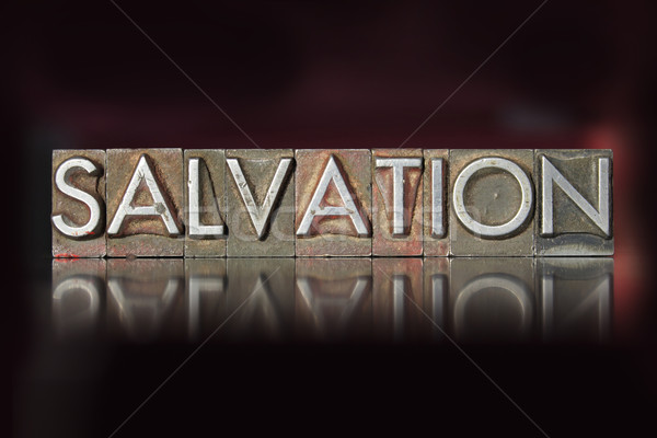 Salvation Letterpress Stock photo © enterlinedesign