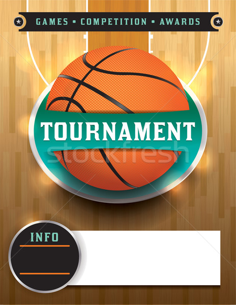 Basketball Tournament Template Stock photo © enterlinedesign