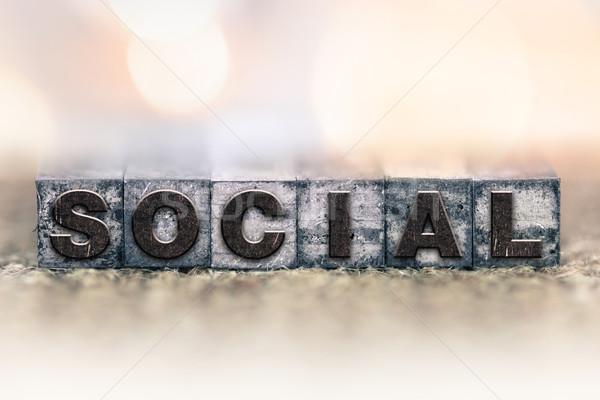 Társasági klasszikus magasnyomás szó írott Stock fotó © enterlinedesign