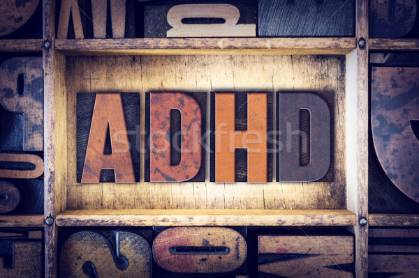 ADHD Concept Letterpress Type Stock photo © enterlinedesign